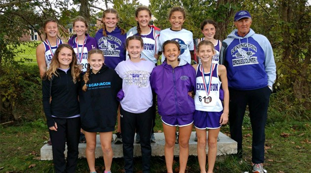 7/8 Girls Cross Country Fourth Place Finish