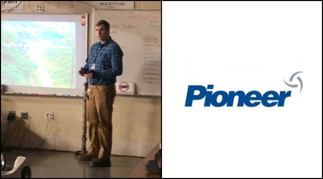 Luke K. Delivers Senior Project Presentation at Pioneer