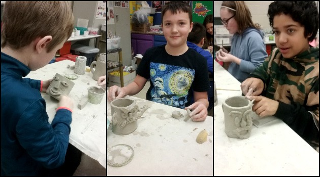Eastern 5th Grade Art Ceramics