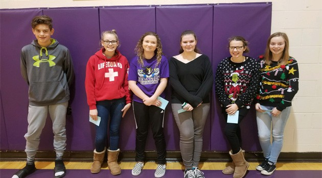 Junior High CACY Kindness Challenge