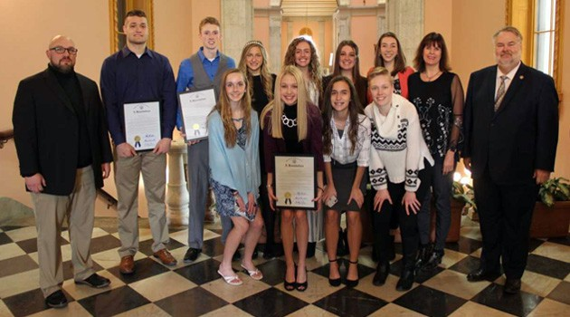 Student Athletes Recognized During Ohio Senate Session
