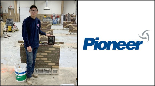 Kaeden McK. Earns 2nd place in Masonry Skills Competition