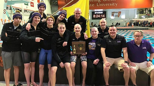 Boys Varsity Swim Team District Champions