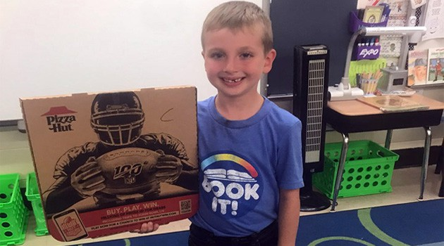 Western First Grader Wins National Book It! Contest
